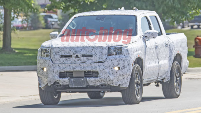 2021 Nissan Frontier prototype spotted on the road in new spy photos